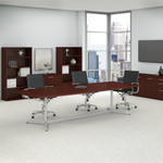 harvest cherry boat shaped conference table