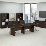 mocha cherry 10' boat shaped conference table