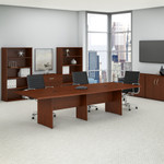 hansen cherry 10' boat shaped conference table