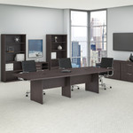 storm gray 10' boat shaped conference table