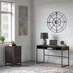 office by kathy ireland writing desk with 3 drawer file cabinet