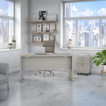 gray sand echo credenza desk with mobile file cabinet