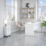 ech008 office by kathy ireland l desk with pure white finish