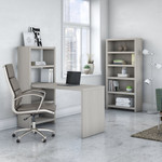 office by kathy ireland bookcase desk with storage