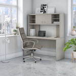 gray sand credenza desk with hutch