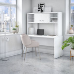 pure white credenza desk with hutch