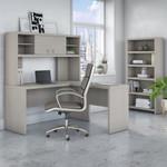 gray sand echo l desk with bookcase