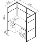 easy office line drawing with dimensions