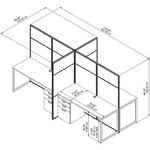 eodh66 cubicle line drawing