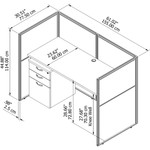 cubicle dimensions line drawing