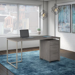 cocoa method office desk with file pedestal