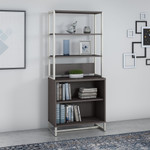 storm gray method open bookcase with hutch