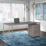 "method 72"" writing desk with file pedestal"