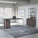 storm gray kathy ireland method office furniture set