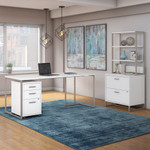 kathy ireland method office furniture set in white