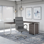 storm gray method by kathy ireland office furniture and chair set