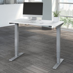 white 48 x 24 height adjustable move 40 table
