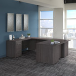storm gray office 500 u shaped desk