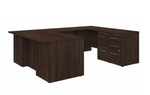 black walnut office 500 u shaped desk