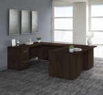 office 500 u shaped desk in black walnut