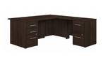 office 500 l shaped desk in black walnut