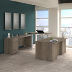 modern hickory height adjustable office 500 u-desk