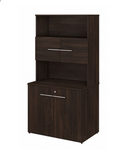 office 500 storage cabinet in black walnut