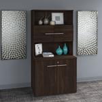 black walnut office 500 storage cabinet