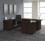 black walnut office 500 complete executive desk and chair set