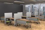 """global 54"""" high privacy panels for training room"""