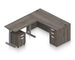 artisan gray ergonomic l shaped desk