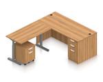 autumn walnut ergonomic l shaped desk