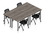 artisan gray 4 person table configuration