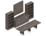 artisan gray superior laminate conference furniture set
