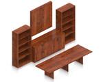 cherry superior laminate conference furniture set