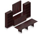 mahogany superior laminate conference furniture set