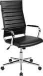 black ribbed office chair