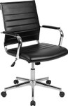 flash furniture mid back ribbed office chair