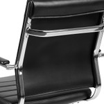 flash furniture mid back ribbed office chair back view