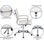 flash furniture white mid back ribbed chair features
