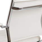flash furniture white mid back ribbed chair back