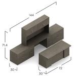 absolute acajou zira executive furniture set - dimensions