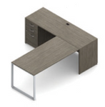 absolute acajou l shaped office desk