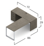absolute acajou l shaped office desk dimensions