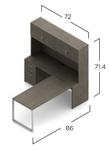 absolute acajou l-desk with hutch dimensions