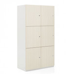 1200 series storage locker with 6 compartment
