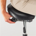 saddle seat stool adjustment