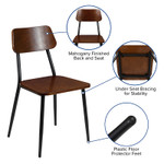 rustic dining chair features