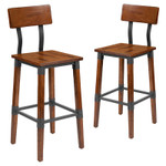 flash furniture 2 pack of industrial bar stools