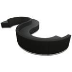 alon series s shaped modular reception seating set